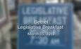 Legislative Breakfast in Bethel - March 25, 2019