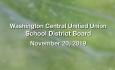 Washington Central Unified Union School District - November 20, 2019
