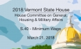 Vermont State House: S.40 - Minimum Wage 3/21/18
