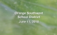 Orange Southwest Unified Union District - June 11, 2018
