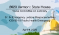 Vermont State House - S.114 Emergency Judicial Response to the COVID-19 4/9/2020