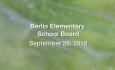 Berlin Elementary School Board - September 26, 2018