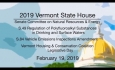 Vermont State House - S.49 Regulation of Drinking Waters, S.84 Vehicle Emissions, VHCC 2/19/19