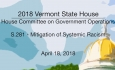 Vermont State House - S.281 - Mitigation of Systemic Racism 4/18/18