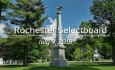 Rochester Selectboard - July 9, 2018