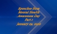 Abled and on Air: Speeches from Mental health Awarness Day 2020 Part 1