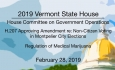 Vermont State House - H.207 Non-Citizen Voting, Regulation of Rx Marijuana 2/28/19