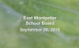 East Montpelier School Board - September 26, 2018