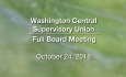 Washington Central Supervisory Union - Full Board Meeting 10/24/18