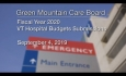 Green Mountain Care Board - Fiscal Year 2020 - VT Hospital Budget Submissions 9/4/19