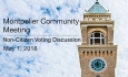 Montpelier Community Meeting - Non-Citizen Voting Discussion 5/1/8