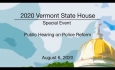 Vermont State House Special Event - Public Hearing on Police Reform 8/6/2020