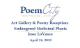 Poem City -  Endangered Medicinal Plants - Jesse LoVasco