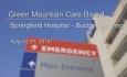 Green Mountain Care Board - Springfield Hospital Budget Hearing 8/29/18