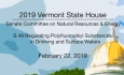 Vermont State House - S.49 Regulation of Polyfluoroalkyl Substances in Waters 2/22/19