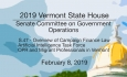 Vermont State House - S.47, Artificial Intelligence Task Force, OPR 2/8/19