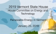 Vermont State House - Renewable Energy in Vermont 1/25/19