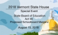 Vermont State House - State Board of Education: Act 46: Proposed Schoolboard Mergers