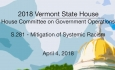 Vermont State House: S.281 - Systemic Racism Mitigation 4/4/18