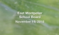 East Montpelier School Board - November 19, 2018