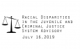Racial Disparities Advisory Panel - July 16, 2019