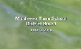 Middlesex Town School District Board - June 3, 2019