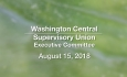 Washington Central Supervisory Union - Executive Committee Meeting 8/15/18 [WCSU]