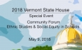 Vermont State House Special Event - Community Forum: Ethnic Studies & Social Equity in Schools