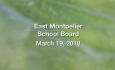 East Montpelier School Board - March 19, 2018