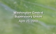 Washington Central Supervisory Union - Executive Committee Meeting 4/25/18