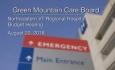 Green Mountain Care Board - Northeastern VT Regional Hospital Budget Hearing 8/20/18