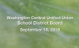 Washington Central Unified Union School District - September 18, 2019