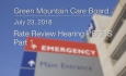 Green Mountain Care Board - Rate Review Hearing BlueCross/BlueShield Part 1 - 7/23/18