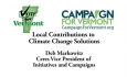 Vote for Vermont: Local Contributions to Climate Change Solutions, Deb Markowitz
