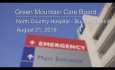 Green Mountain Care Board - North Country Hospital - Budget Hearing 8/21/19