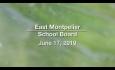 East Montpelier School Board - June 17, 2019