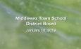 Middlesex Town School District Board - January 10, 2019