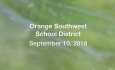 Orange Southwest Unified Union District - September 10, 2018